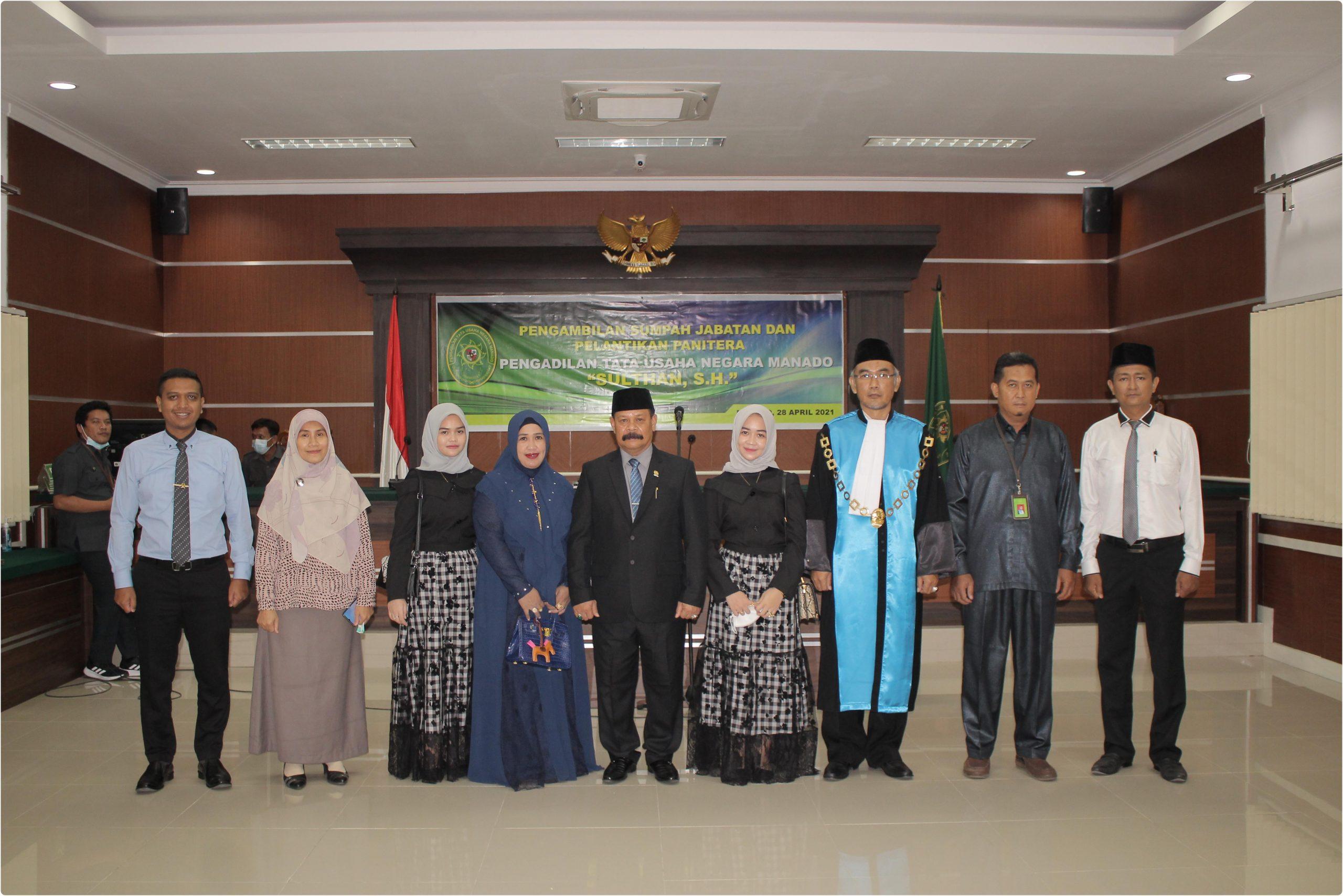 Pengambilan Sumpah Jabatan dan Pelantikan Panitera Pengadilan Tata Usaha Negara Manado