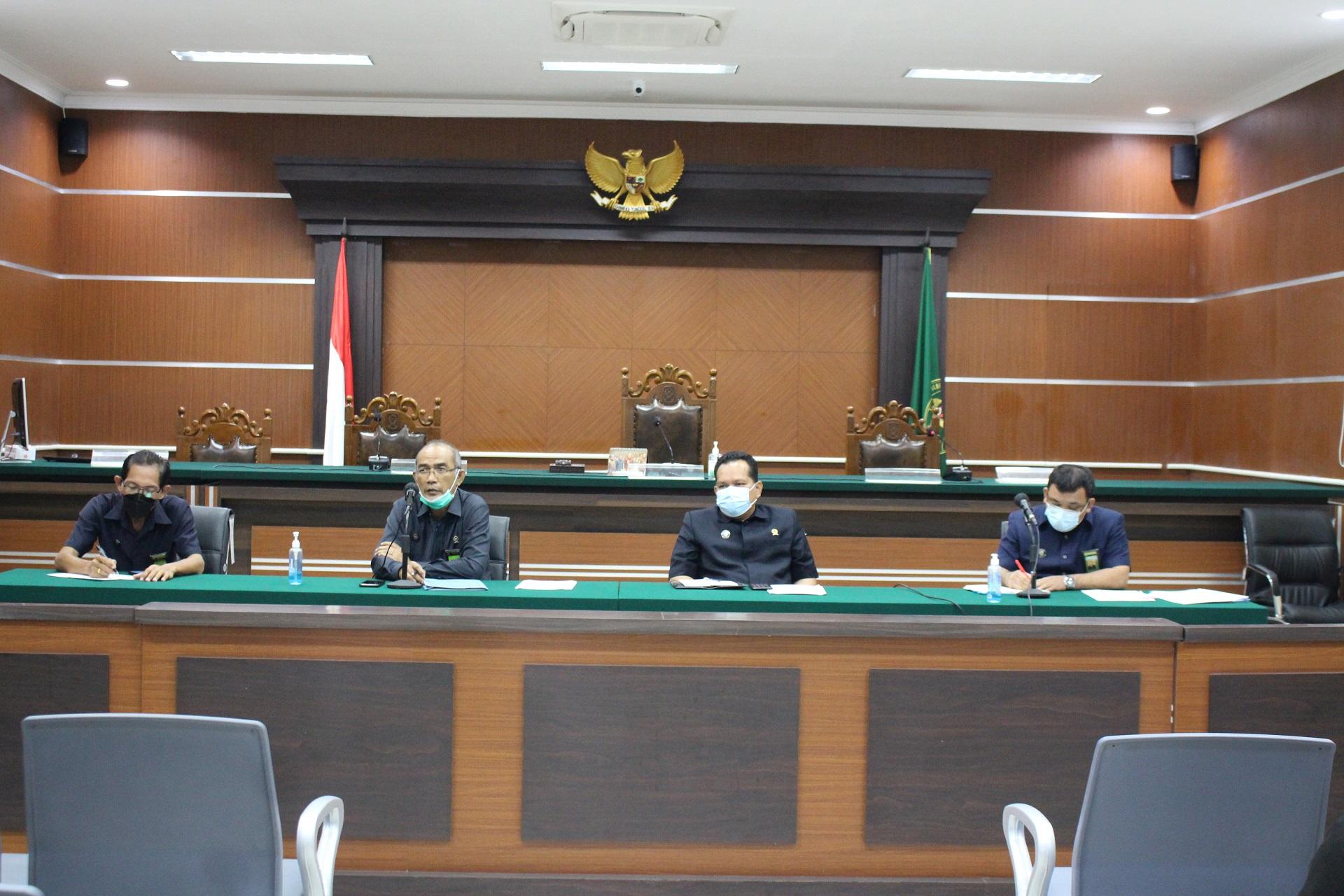Rapat Bulanan & Monitoring Evaluasi Bulan April Tahun 2021 PTUN Manado