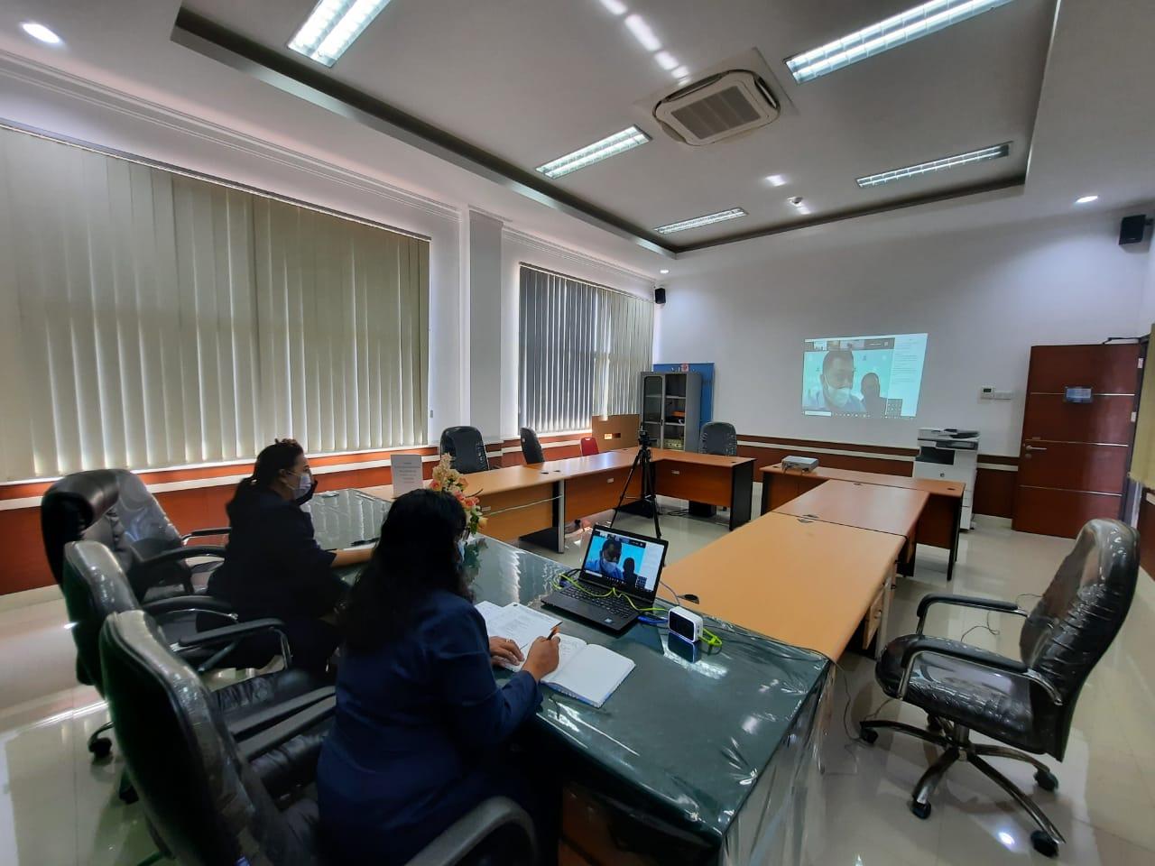 Pelaksanaan Evaluasi Pelaksanaan Anggaran Bulan Juli 2021 Bersama Satuan Kerja Lingkup Kantor Wilayah Direktorat Jenderal Perbendaharaan Provinsi Sulawesi Utara